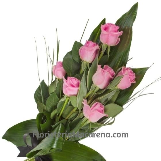 ramo funerario 7 rosas